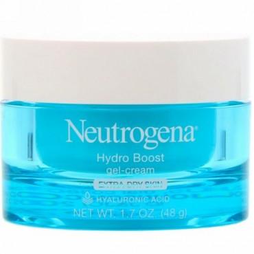 Neutrogena, ハイドロブースト, ジェルクリーム, エキストラドライスキン,無香料,48g(1.7 oz)