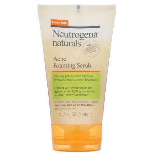 Neutrogena, Naturals, Acne Foaming Scrub, 4.2 fl oz (124 ml) (Discontinued Item)