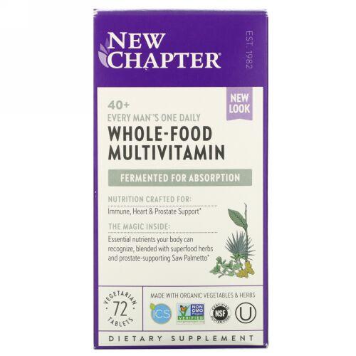 New Chapter, 40歳以上の男性向け、植物性タブレット72粒