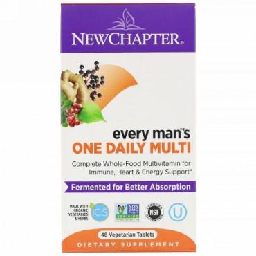 New Chapter, エブリマンズワンデイリーマルチ、植物性タブレット48錠
