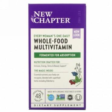 New Chapter, エブリウーマンズワンデイリーマルチ、植物性タブレット48粒