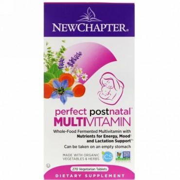 New Chapter, パーフェクトポストナタルのマルチビタミン、植物性タブレット270錠