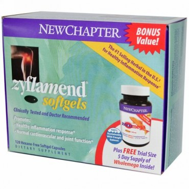 New Chapter, Zyflamend Softgels, 120 Hexane-Free Softgel Capsules/10 Softgels (Discontinued Item)