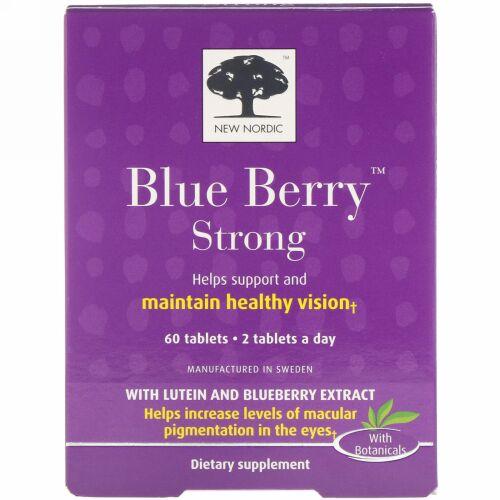 New Nordic, Blue Berry(ブルーベリー)ストロング、タブレット60粒