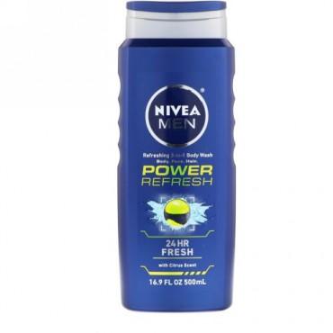 Nivea, パワーリフレッシュ、 3-in-1 ボディウォッシュ、 16.9 fl oz (500 ml) (Discontinued Item)