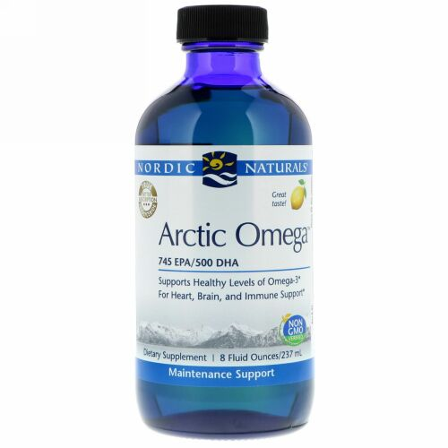 Nordic Naturals, Arctic Omega, Lemon Flavor, 8 fl oz (237 ml) (Discontinued Item)
