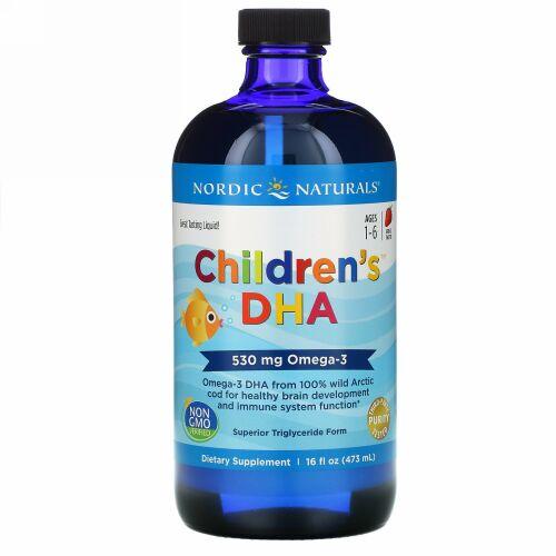 Nordic Naturals, Children's DHA, Ages 1-6, Strawberry, 530 mg, 16 fl oz (473 ml)