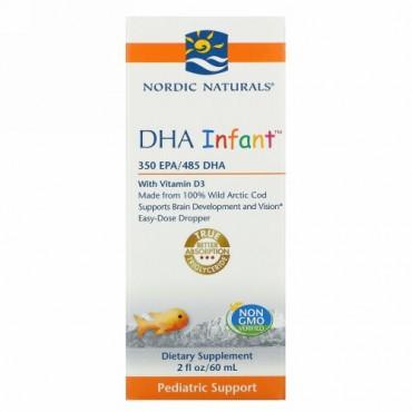 Nordic Naturals, DHA Infant with Vitamin D3, 2 fl oz (60 ml)