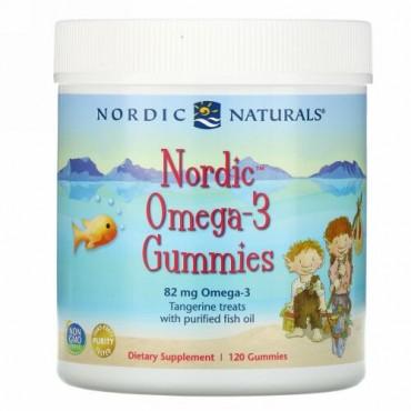 Nordic Naturals, ノルディックオメガ3グミ、ミカン風味、82mg、グミ120粒