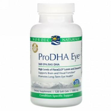 Nordic Naturals, ProDHA Eye、1,000 mg、120ソフトジェル