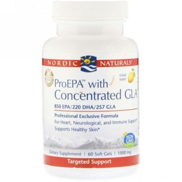 Nordic Naturals, ProEPA with Concentrated GLA, Lemon, 1,000 mg, 60 Soft Gels