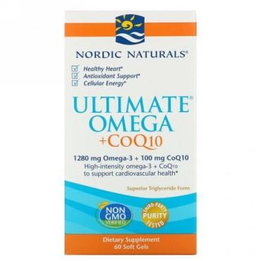 Nordic Naturals, Ultimate Omega + CoQ10, 1,280 mg, 60 Soft Gels