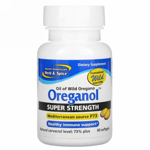 North American Herb & Spice, Oreganol P73、超強力、60ソフトジェル