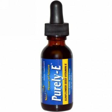 North American Herb & Spice, ピュアリー-E、サンフラワーシード ビタミンE、1 fl oz (30 ml) (Discontinued Item)