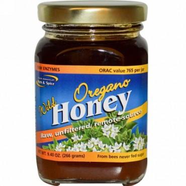 North American Herb & Spice, ワイルドオレガノハニー、 9.40オンス (266 g)