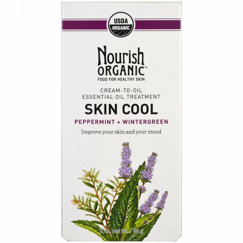 Nourish Organic, スキンクール、ペパーミント + ウィンターグリーン、2 oz (56 g) (Discontinued Item)