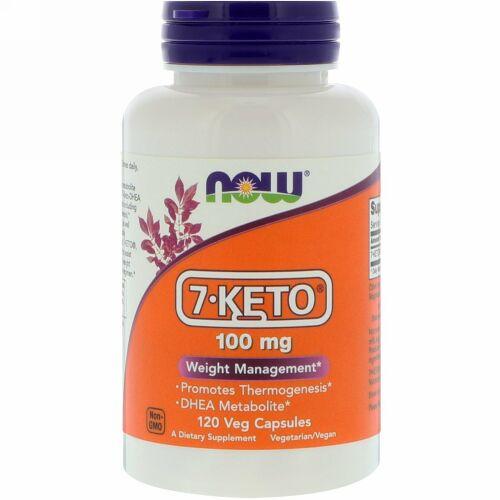 Now Foods, 7-KETO、100 mg、120ベジカプセル