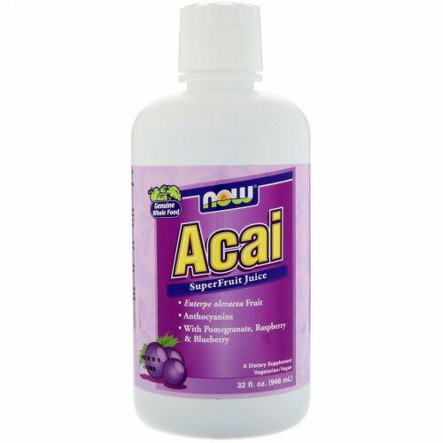 Now Foods, アサイー スーパーフルーツジュース, 32液量オンス(946 ml)