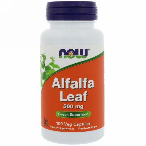 Now Foods, アルファルファリーフ、500 mg、植物性カプセル100粒 (Discontinued Item)