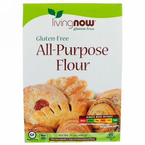 Now Foods, 万能小麦粉, グルテンフリー, 17オンス (482 g)