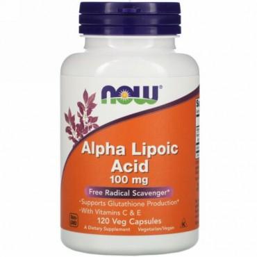 Now Foods, アルファリポ酸、100mg、植物性カプセル120個