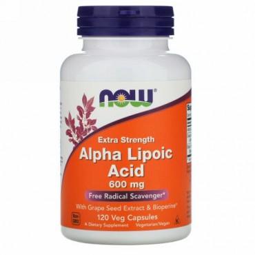 Now Foods, アルファリポ酸、エクストラストレングス、600 mg、120カプセル