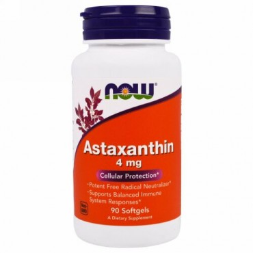 Now Foods, アスタキサンチン、 4 mg, 90ソフトジェル