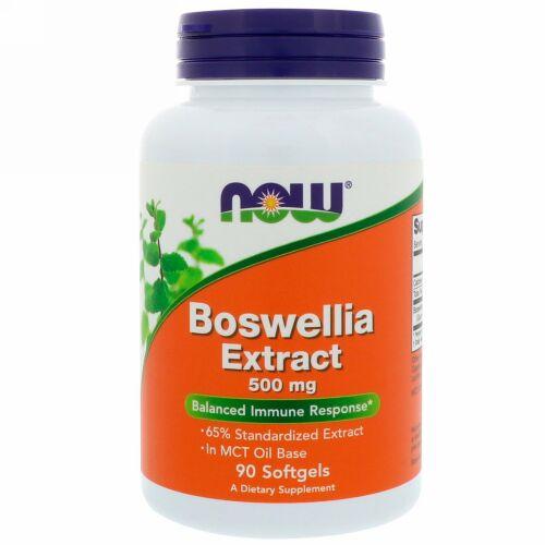Now Foods, ボスウェリアエキス、 500 mg、 90ソフトジェル