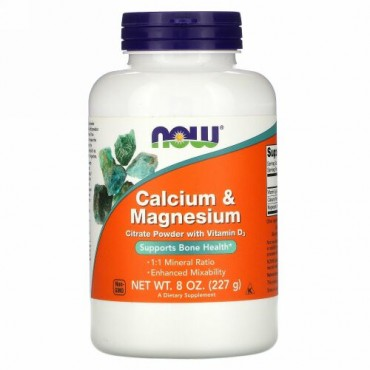 Now Foods, Calcium & Magnesium、8オンス(227 g)