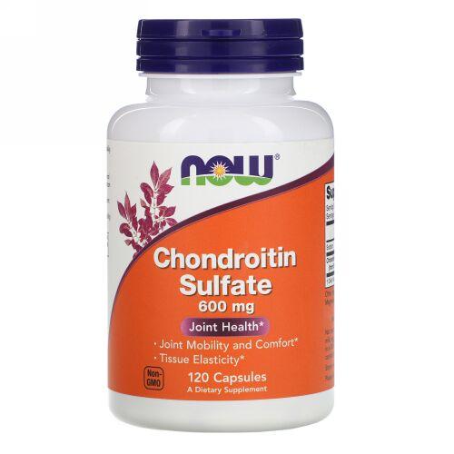 Now Foods, コンドロイチン硫酸, 600 mg, 120 カプセル