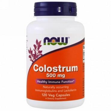 Now Foods, Colostrum、500 mg、ベジキャップ120錠