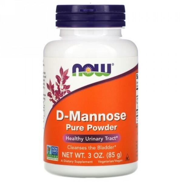 Now Foods, D-Mannose Pure Powder、3 oz (85 g)