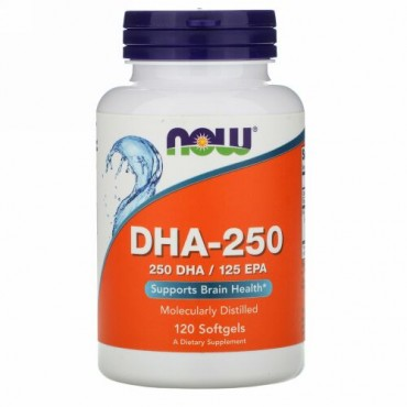 Now Foods, DHA-250、ソフトジェル120粒