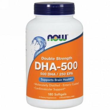 Now Foods, DHA-500/EPA-250、ダブル強度、180ソフトジェル