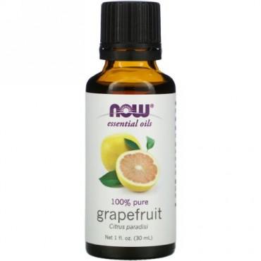 Now Foods, エッセンシャルオイル、グレープフルーツ、1液体オンス(30ml)