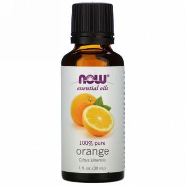 Now Foods, エッセンシャルオイル、オレンジ、1液量オンス (30 ml)