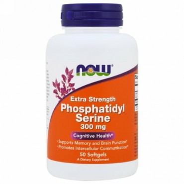 Now Foods, 強力ホスファチジルセリン、300 mg、50ソフトジェル