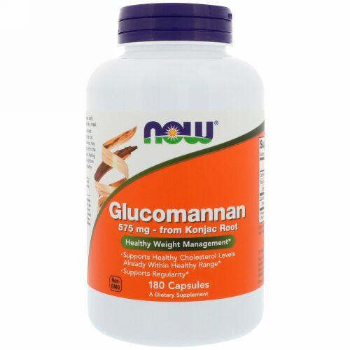 Now Foods, グルコマンナン、575 mg、180カプセル