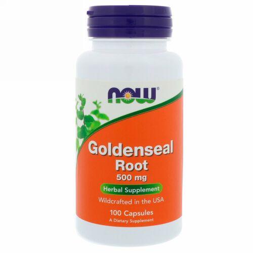 Now Foods, ゴールデンシールルート(ヒドラスチスの根)、500 mg、100 錠