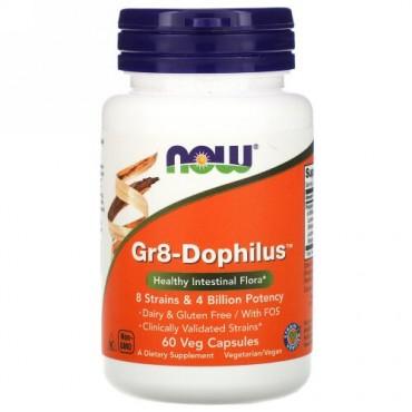 Now Foods, Gr8-Dophilus、60植物性カプセル
