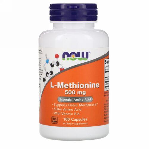 Now Foods, L-メチオニン、500 mg、100粒