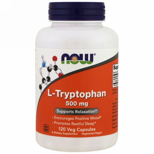 Now Foods, L-トリプトファン、500 mg、120 ベジタブルカプセル