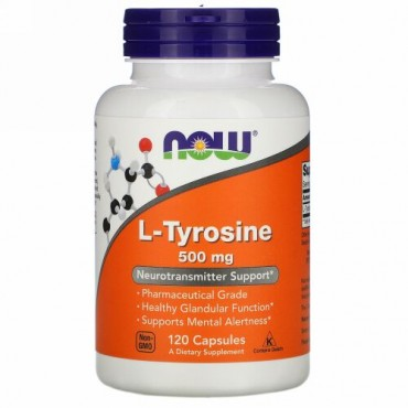 Now Foods, L-チロシン、500 mg、120粒