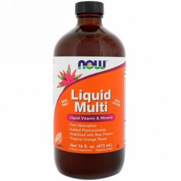 Now Foods, リキッドマルチ, トロピカルオレンジフレーバー, 16 fl oz (473 ml)