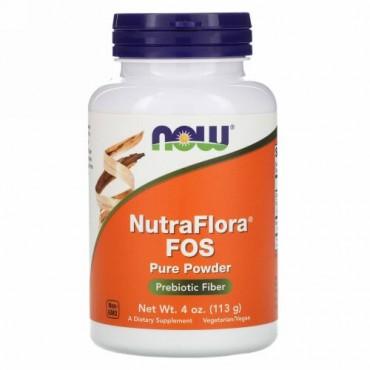 Now Foods, NutraFlora FOS、ピュアパウダー、4 oz (113 g)