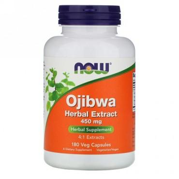 Now Foods, オジブワハーブエキス、450 mg、ベジタリアンカプセル180錠