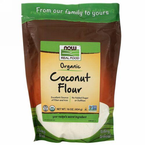 Now Foods, オーガニックココナッツ粉、16 oz (454 g)