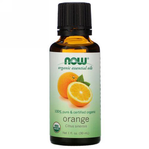 Now Foods, オーガニックエッセンシャルオイル, オレンジ, 1 fl oz (30 ml)