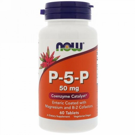 Now Foods, P-5-P、50 mg、60 錠 (Discontinued Item)