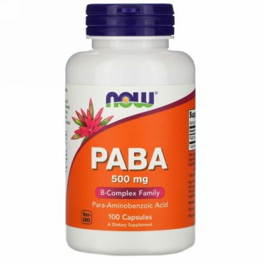 Now Foods, PABA、500 mg、100粒